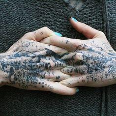 Superb connecting tattoo by Noel'le Longhaul #NoelleLonghaul #figurative…
