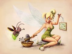 Art of Tinker Bell: Classic Pin-Up by jeftoon01.deviantart.com on @DeviantArt