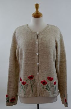 Orvis Multi-Color Cardigan Sweater Womens Large Excellent Used #Orvis #Cardigan