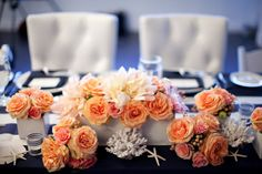 #nautical, #centerpiece  Event Design + Coordination: Katy Carrier Events - katycarrierevents.com Photography: Shannon Lee Images - shannonleeimages.com  Read More: http://www.stylemepretty.com/2011/09/19/malibu-wedding-by-shannon-lee-images/