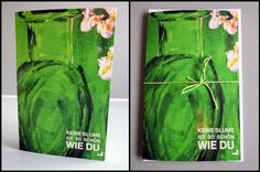 Keine Blume ist so schön wie du von Art-MG auf DaWanda.com Glass Vase, Etsy, Home Decor, Flowers, Nice Asses, Decoration Home, Room Decor, Home Interior Design, Home Decoration
