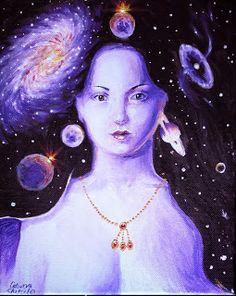 Din parul tau, #pictura inspirata din poezia lui Lucian Blaga