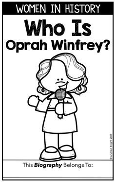 Who Is Oprah Winfrey, Social Studies Book, Nonfiction Books For Kids, Biography Books, A Wrinkle In Time, First Grade Teachers, Women's History, Critical Thinking, Grade 1