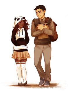 I feel like Hazel got that hoodie because Frank reminds her of a panda...
