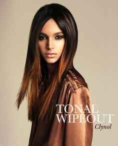 Glossy locks and playful attitude from Clynol's new Tonal Fusion collection.
