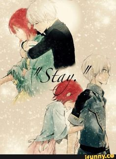 Anime: Akagami no Shirayuki-hime Me Anime, Anime Love, Manga Anime, Romantic Anime Couples, Cute Anime Couples, Anime Couples Drawings, Couple Drawings, Zen Y Shirayuki, Kawaii