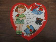 Vintage Paper Doll Majorette Valentine