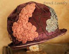 French Laundry: Hats off to you! Antique ribbon work-a love story, 1920s