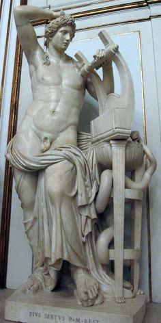 Apollo citaredo colossale, da originale ellenistico del II sec. ac. attr. a Timarchides, da villa Palombara.