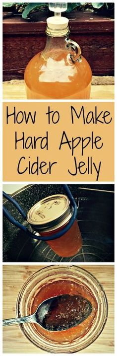 DIY Food Preservation Tips and Recipes : Turn your home brewed (or store bought) hard cider into jelly! A delicious holiday treat or gift. Hard Apple Cider, Brewing Recipes, Jam And Jelly, Jelly Fun, Dehydrated Food, Apple Butter, Ber, Fermented Foods, Preserving Food