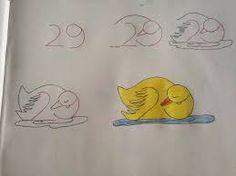 Resultado de imagem para ensinar a desenhar com numeros