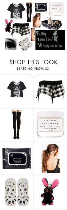 """don't trust anyone sleepwear"" by scream-0-em0 ❤ liked on Polyvore featuring WithChic, Herbivore, e.l.f., Boohoo and M&Co"