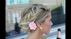 #wedding #blonde #braid #bride #summer