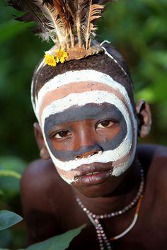 Ethiopian Tribes, Suri - by Dietmar Temps African Tribes, African Art, African Style, We Are The World, People Of The World, Expos Paris, Ethiopian Tribes, Tribal People, Indigenous Art