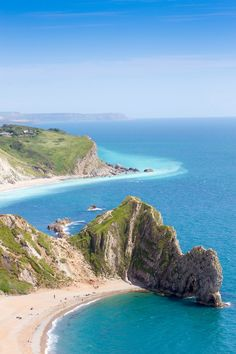 Durdle Door and Lulworth Cove beyond - Dorset, England by gibsongav
