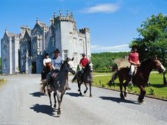 Castle tour in Ireland on horseback! Two of my favorite things... Castles and horses. Dream vacation!!!
