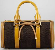 Burberry Tweed Bowler Bag