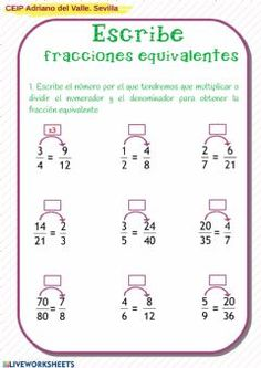 360 Ideas De Fracciones Fracciones Matematicas Fracciones Actividades De Matematicas