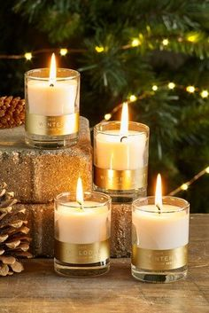 Festivities bring with them a luxurious cosy feel, nothing says this better than our set of 4 collection luxe candles in festive fragrances. Red Candles, Floating Candles, Scented Candles, Pillar Candles, Cottage Christmas, Christmas Home, Devine Light, Lantern Candle Holders, Beautiful Christmas