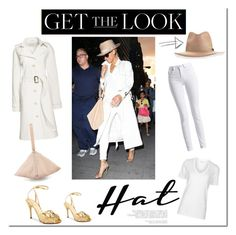 """""""Get the Look - Beyoncé's look!"""" by tatajrj ❤ liked on Polyvore featuring rag & bone, Canvas by Lands' End, Charlotte Olympia, Givenchy, Barbour International, Étoile Isabel Marant, GetTheLook and hats"""