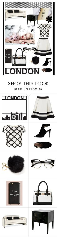 """""""Sin título #282"""" by anyhichins ❤ liked on Polyvore featuring interior, interiors, interior design, home, home decor, interior decorating, Lipsy, Tory Burch, IMoshion and Threshold"""