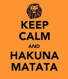 Afrika - Everyting Copacetic - Hakuna Matata (Swahili) = No worries, No problems, Don't worry be happy