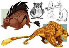 Pin by daydreaming hippie on comic reference in 2019 марвел, животные, разн Character Design Cartoon, Character Design Animation, Character Art, Creature Concept Art, Creature Design, Animal Sketches, Animal Drawings, Anna Cattish, Anatomy Sketch