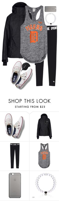 """""""Baseball game today!!⚾⚾"""" by alyssadesgrange ❤ liked on Polyvore featuring Keds, Columbia and Native Union"""