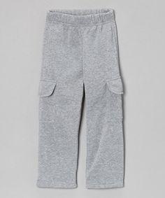 Look at this #zulilyfind! Gray Fleece Cargo Pants - Toddler & Boys #zulilyfinds