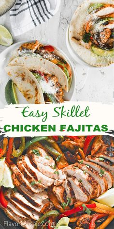 These marinated Chicken Fajitas turn a weeknight dinner into a Mexican fiesta! Also, be sure to keep this recipe to serve on Cinco De Mayo. Enjoy incredibly flavorful fajitas that cooks up in 30 minutes! #FlavorMosaic Homemade Fajita Seasoning, Chicken Fajita Recipe, Best Chicken Recipes, Marinated Chicken, Chicken Fajitas, Turkey Recipes, Mexican Side Dishes, Main Dishes, Easy Dinner Recipes