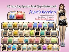 43 swatches and spa day game pack needed ! please check notes.  Found in TSR Category 'Sims 4 Female Everyday'