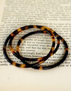 Tortise shell bracelets