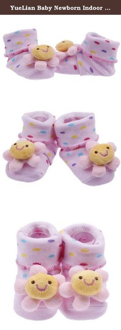 YueLian Baby Newborn Indoor Slipper Socks Booties Pink 2.7''. Material: Knit Package: 1 Pair of Baby Sock Sock Length: 2.7'' Notes: 1. Color: Due to lighting effects, monitor's brightness / contrast settings etc, there could be some slight differences in the color tone of the pictures! 2. Size: Manual measuring, please allow 1-2cm error. .