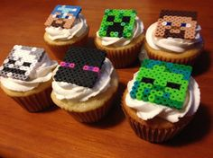 Minecraft Cupcake Toppers 12 pack: Featuring Heroes, Enemies, Weapons & Tools