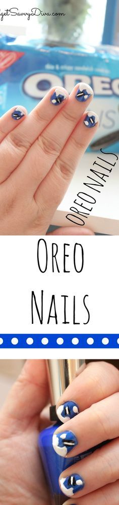 Oreo Nail Tutorial | Budget Savvy Diva  GetInOnOREOThins. AD @Kroger