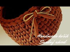 Jak se háčkuje KOŠÍK / návod pro začátečníky - YouTube Crochet Basket Tutorial, Easy Crochet, Straw Bag, Knitted Hats, Knitting, Simple, Youtube, Patterns, Crocheting