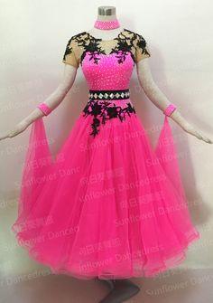 2016New Style!Women Ballroom Competition Dance Dresses  Modern Tango Waltz tango salsa Quick step dance dress pink  color