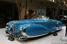 Solve 1949 Delahaye Type 175 S Roadster jigsaw puzzle online with 66 pieces Classic Motors, Classic Cars, Retro Cars, Vintage Cars, Steampunk Motorcycle, Art Deco Car, Automobile, Rockabilly Cars, Unique Cars
