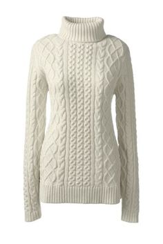 Women's+Lofty+Blend+Aran+Cable+Turtleneck+Sweater+from+Lands'+End