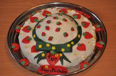 Strawberry Shortcake Hat Birthday Cake  for Elli