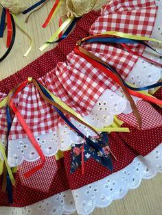 SAIA INFANTIL CAIPIRA no Elo7 | Brasil que Encanta (BA772F) Maria Clara, American Girl Clothes, Girl Outfits, Arts And Crafts, Barbie, My Style, Womens Fashion, Party Skirt, Dressmaking