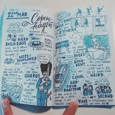 First day in Copenhagen #travelnotes #sketchnotes #diary #sketchbook #visualdiary