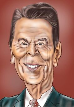 i dream of jeannie caricatures | 40 - Ronald Reagan by ~adavis57 on deviantART