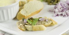 Chicken Liver Pate - This is a deliciously simple and rich pate made with poached chicken livers, butter, and white wine. A perfect appetizer!