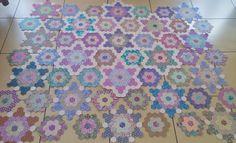 Cape Pincushion: Paper-pieced hexagon quilt progress