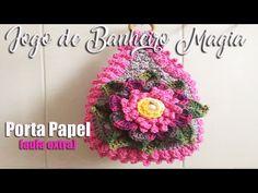 Crochê para Banheiro - JOGO DE BANHEIRO MAGIA - Porta Papel Higiênico  4/4 - YouTube