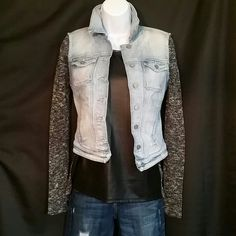 Selling this Guess Marled Sweater with Front Leather Panel in my Poshmark closet! My username is: dreamcatcher088. #shopmycloset #poshmark #fashion #shopping #style #forsale #Guess #Tops