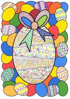 En attendant la chasse aux œufs le jour de Pâques, voici une fiche de graphisme décoratif libre avec un coloriage : Imprimer la fiche...