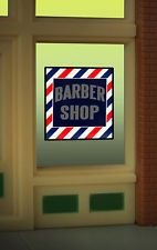 Barber Shop Animated Neon Window Sign HO Scale 1:87 or O Scale Model Trains