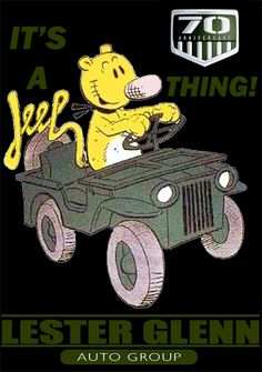 eugene-the-jeep Anni copy Jeep Wrangler Yj, Jeep Tj, Jeep Wrangler Unlimited, Jeep Truck, Jeep Humor, Jeep Funny, Eugene The Jeep, Mini Jeep, Green Jeep